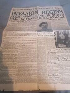 Journal 6 Juin 1944 Us Ww2 Gi WWII Para Américain D-day 39 45 USA