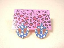 Betsey Johnson Cartoon Navy Blue Anchor White Bubble Fashion Stud Earrings