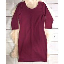 Ann Christine fuchsia 3/4 sleeve bodycon dress size Small