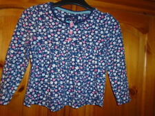 Long Sleeve Crew Neck Floral 100% Cotton Girls' T-Shirts & Tops (2-16 Years)