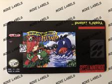 Super Mario World 2 - Yoshi's Island Snes Cartridge Replacement Label Precut