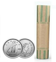 🇨🇦 Canada FULL ROLL 10 cents coins, Bluenose Schooner Dime, Uncirculated, 2020