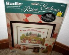 "BUCILLA RIBBON EMBROIDERY&CROSSSTITCH~""LOVE MAKES OUR HOUSE A HOME""~ #40976~~NIP"