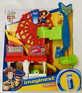 NIB Fisher-Price Imaginext Disney Pixar Carnival Toy Story Playset Woody, Ducky