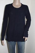 Ann Taylor LOFT Women's Long Sleeve Cotton Stripe Back Mixed Media Sweater NWT S