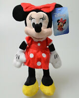 """Disney Minnie Mouse 11"""" Plush Doll Stuffed Red Dress Classic Toy Girls Gift New"""