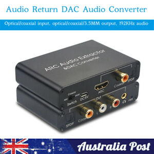 3.5mm  HDMI Digital To Analog Coaxail ARC Audio Extractor Converter Adapter
