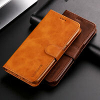 Lxury Genuine Real Leather Flip Wallet Stand Case Cover For Various Cell Phone