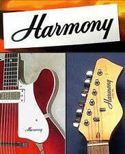 Harmony Pick guard Decals Waterslide Headstock Decal Black Rocket Bobkat Guitar