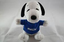 "Plush Stuffed Metlife Snoopy Wearing Blue Shirt  6"" In."