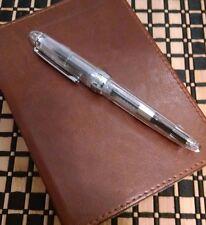 Demonstrator Fountain Pen Custom Fine Nib Clear + Free Ink