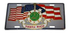 """USA American Puerto Rico Rican Crest Seal Flags 6""""x12"""" License Plate Sign"""