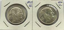 BELGIE 50 F 1949 FR & 1950 VL
