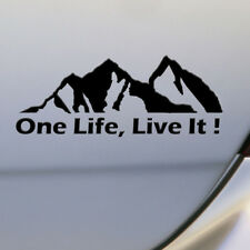 ONE LIFE LIVE IT ! Off Road SUV Truck Mountain Silhouette Car Sticker Decals