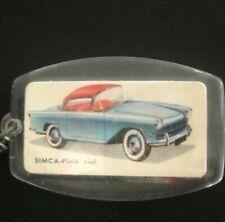 porte cle SIMCA PLEIN CIEL keychain ancien publicitaire advert vintage 60's 70's