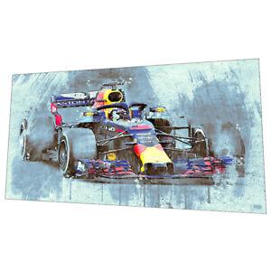 Red Bull Formula 1 Wall Art - Racing car Graphic Art Poster