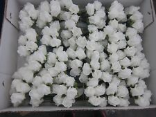 96 White Roses 12 Bunches of 8 Artifical Wedding Flowers For Buttonholes Ect