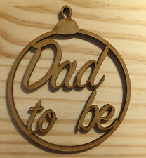 "New born""Dad to be"" Christmas Tree Bauble, Gift Tag"
