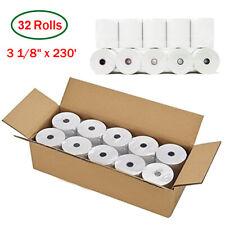 "32 Rolls 3 1/8 "" x 230' feet Thermal Receipt Paper Pos Cash Register Bpa Free Us"