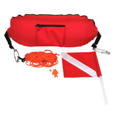 Nylon Torpedo Float Buoy w/ Flag for Spearfishing Snorkeling Scuba Sign