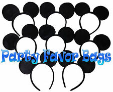 20 pcs Mickey Mouse Ears Headbands Black Plush Party Favors Birthday Gift Minnie