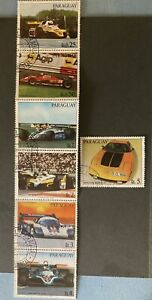 Paraguay: Complete set of 7 Different Race Cars. Lot # 031106