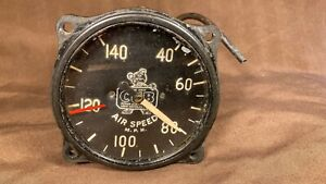 Piper Cub  Aircraft Instrument / Gauge Airspeed Indicator Vintage