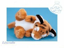 Sleeping Tiger Cub  Plush Soft Toy Wildcat by Dowman Soft Touch.RB516