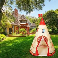 Pop Kids Game Teepee Native Indian Style Indoor Outdoor Play Conical Tent 2017