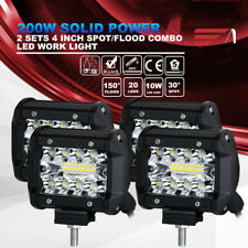 4X 4 inch 200w CREE LED Work Light Pod Spot Flood Combo Driving Light Offroad