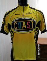 Biemme Cycling Jersey Coast Yellow Black Short Sleeve **Sz XXXL- 56 Italian 7