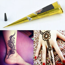 3 color Temporary Tattoo Body Art Paint Natural Herbal Henna Cones Mehandi ink