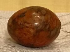 Red Alabaster Stone Hand Carved Easter Egg Made in Italy Action-Lobeco