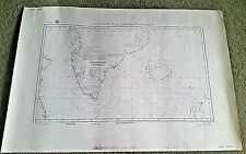 Pilot Chart of the NORTHERN ATLANTIC OCEAN #1400b US NAVY C.A.W.- AUGUST 1945