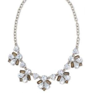 Stella & Dot Lila Crystal Fringe Necklace SILVER