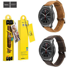 HOCO Calfskin Leather Band For Samsung Galaxy Watch 46mm Gear S3 Bracelet Strap