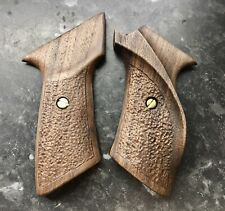 Right Handed Solid Walnut Grips To Fit The Webley Hurricane Or Tempest