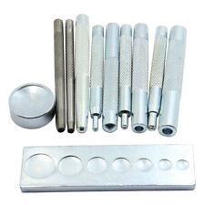 11pcs Leather craft Tool Punch Snap Rivet Setter Base Kit Set Diy633/655/831/201