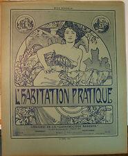 ALFONS MUCHA Revue L'habitation pratique octobre 1909     Architecture
