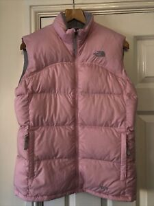 Girls Ladies The North Face Pink Grey Gilet/Bodywarmer Size XL Age 14-16 Size 12