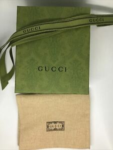 Green Biodegradable GG Card Holder Small Empty Box with Linen Dust Bag