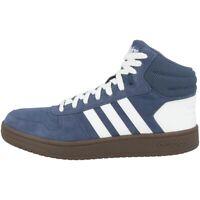 Adidas Herren Sneaker HOOPS 2.0 DB0122 Schwarz Weiß Suede Turnschuhe SALE