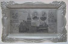 Antique 1900 St John's Reformed Church Lansdale Pa Adv Tray Rev & Mrs Rothrock
