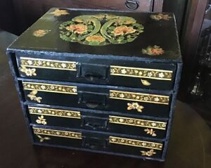 "Arts And Crafts decoupage Jewelry Box 10.5"" X 12.5"" X 9.5"""