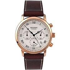 Sekonda Gents Brown Leather Strap Watch 1014 RRP £79.99
