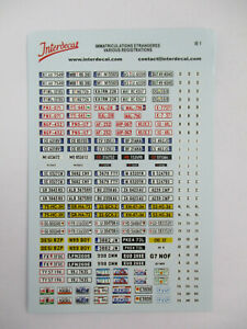 PLANCHE PLAQUE IMMATRICULATIONS ETRANGERES INTERDECAL 1/43