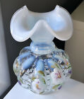 Fenton Limited Edition Hand Painted & Signed Opalescent Beaded Melon Vase