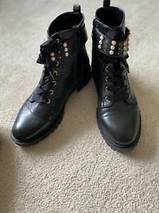 Miss KG BY Kurt Geiger Women's Hatty Pearl Military Style Ankle Boots UK7 EU40