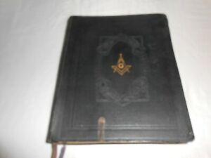 Vtg Holy Bible Red Letter Edition Masonic Edition Cyclopedia Indexed Hertel 1941