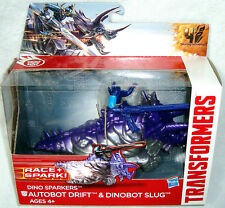 Transformers 4 Age of Extinction Dino Sparkers Drift & Dinobot Slug Figure MIB